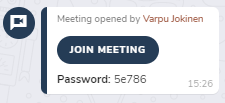 Join Jitsi meeting in hailer chat