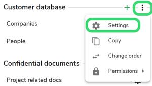 dataset module settings