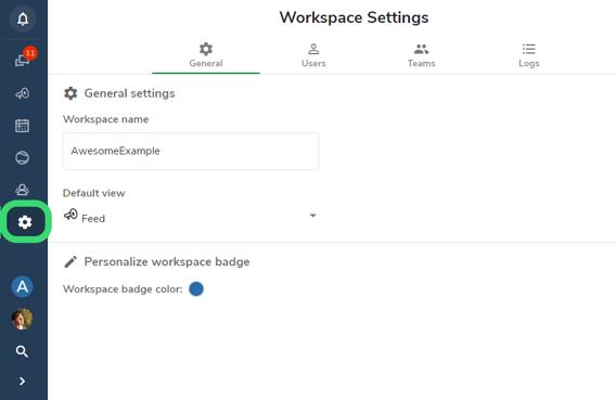 hailer workspace settings