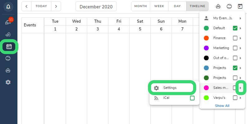 access hailer calendar settings